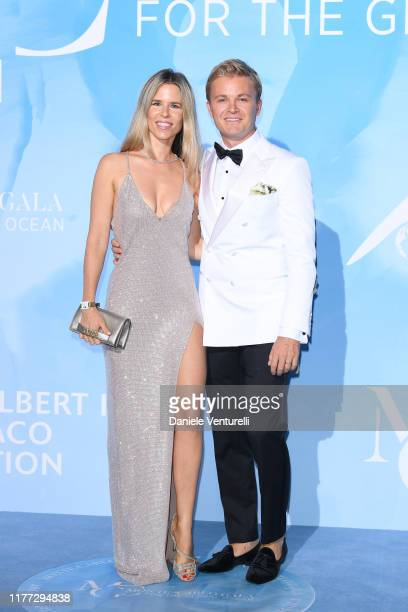 Vivian Sibold and Nico Rosberg attend the Gala for the Global Ocean hosted by H.S.H. Prince Albert II of Monaco at Opera of Monte-Carlo on September...