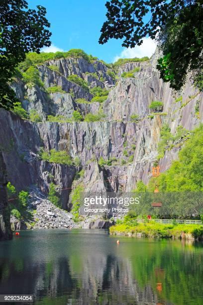 Vivian slate quarry Dinorwic slate quarries Llanberis Gwynedd Snowdonia north Wales UK