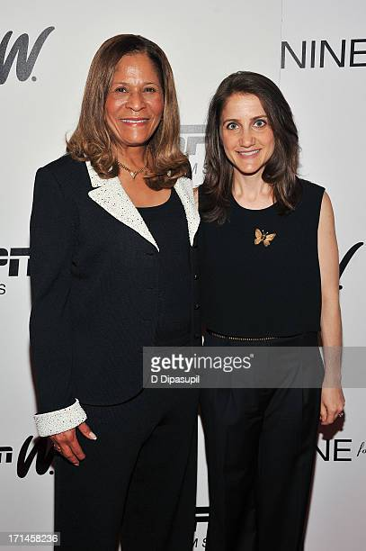 C Vivian Stringer and Bess Kargman attend the 'Venus Vs' and 'Coach' screenings at the Paley Center For Media on June 24 2013 in New York City