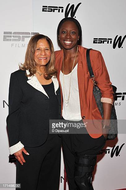 C Vivian Stringer and Essence Carson attend the 'Venus Vs' and 'Coach' screenings at the Paley Center For Media on June 24 2013 in New York City