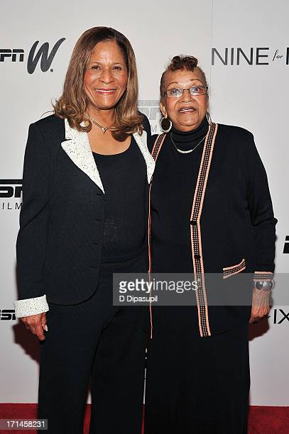 C Vivian Stringer and mother Thelma Stoner attend the 'Venus Vs' and 'Coach' screenings at the Paley Center For Media on June 24 2013 in New York City
