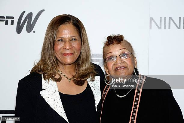 C Vivian Stringer and mother Thelma Stoner attend 'Venus Vs' and 'Coach' New York Special Screenings at Paley Center For Media on June 24 2013 in New...