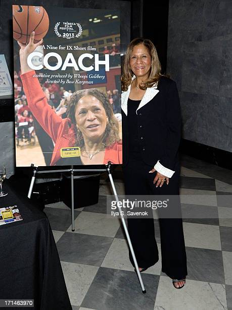 C Vivian Stringer attends 'Venus Vs' and 'Coach' New York Special Screenings at Paley Center For Media on June 24 2013 in New York City