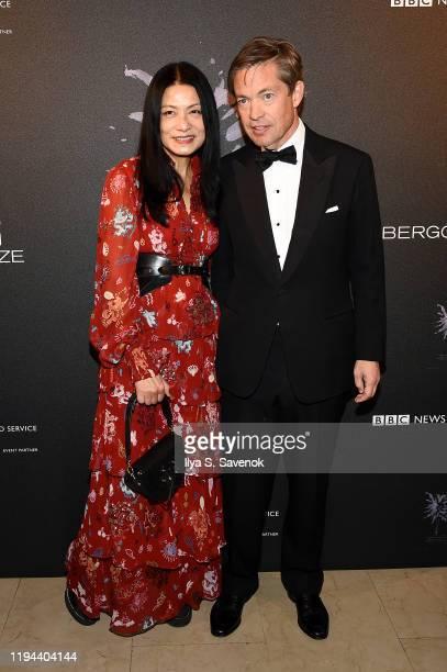 Vivian Tam and Nicolas Berggruen attend the Fourth Annual Berggruen Prize Gala celebrating 2019 Laureate Supreme Court Justice Ruth Bader Ginsburg in...
