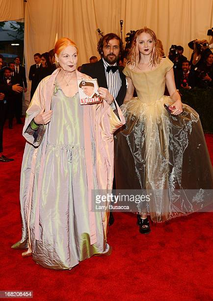 Vivian Westwood and Lily Cole attend the Costume Institute Gala for the PUNK Chaos to Couture exhibition at the Metropolitan Museum of Art on May 6...