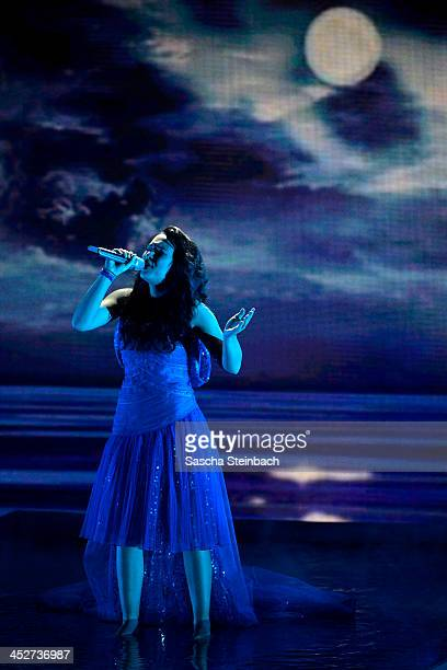 Viviana Grisafi performs during the first live show of 'Das Supertalent' at Coloneum on November 30 2013 in Cologne Germany