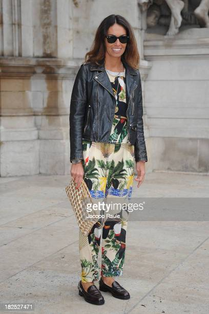 Viviana Volpicella arrives at Stella McCartney Fashion Show during Paris Fashion Week Womenswear SS14 Day 7 on September 30 2013 in Paris France