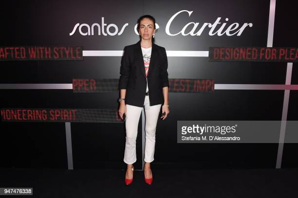 Viviana Volpicella attends Cartier Legendary Thrill Cocktail Party on April 16 2018 in Milan Italy