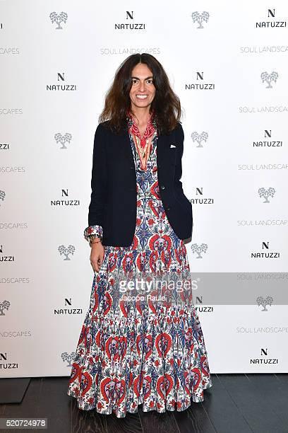 Viviana Volpicella attends Natuzzi Soul Landscapes on April 12 2016 in Milan Italy