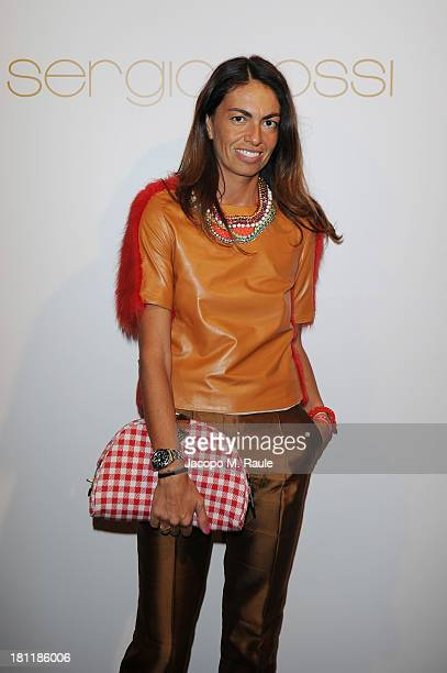 Viviana Volpicella attends Sergio Rossi Cocktail Party during the Milan Fashion Week Womenswear Spring/Summer 2014 on September 19 2013 in Milan Italy