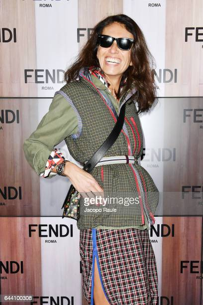 Viviana Volpicella attends the Fendi show during Milan Fashion Week Fall/Winter 2017/18 on February 23 2017 in Milan Italy