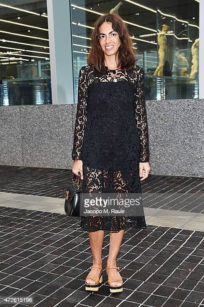 Viviana Volpicella attends the Fondazione Prada Opening on May 8 2015 in Milan Italy