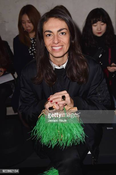 Viviana Volpicella attends the Max Mara show during Milan Fashion Week Fall/Winter 2018/19 on February 22 2018 in Milan Italy