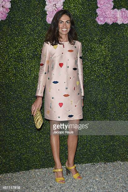 Viviana Volpicella attends the Stella McCartney Garden Party during the Milan Fashion Week Menswear Spring/Summer 2015 on June 23 2014 in Milan Italy
