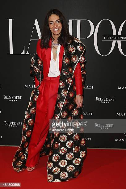 Viviana Volpicella attends the 'The Misia Ball' Lampoon Launch Party during the Milan Fashion Week Autumn/Winter 2015 on February 28 2015 in Milan...