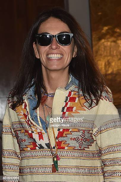 Viviana Volpicella attends the Tod's show during the Milan Fashion Week Autumn/Winter 2015 on February 27 2015 in Milan Italy