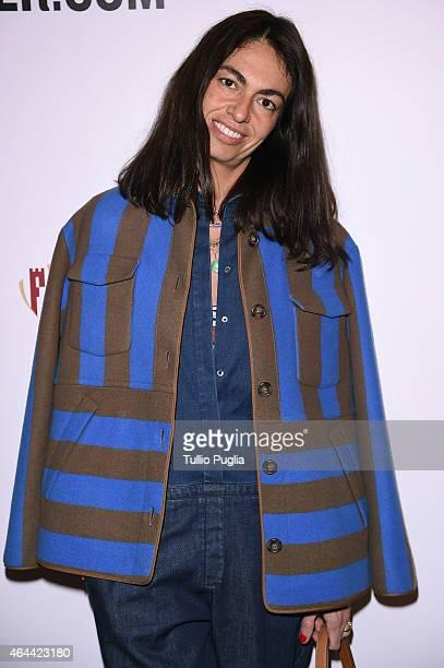 Viviana Volpicella attends the Vogue Talent's Cornercom on February 25 2015 in Milan Italy