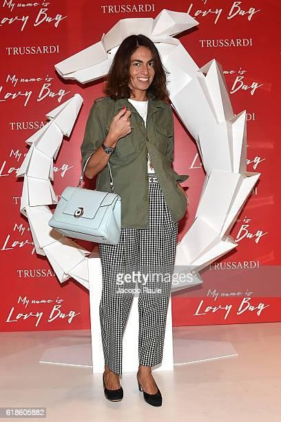 Viviana Volpicella attends Trussardi Lovy Bag Presentation on October 27 2016 in Milan Italy