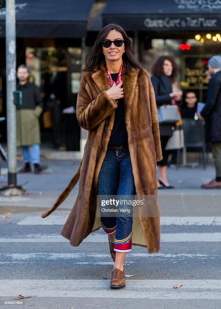 Street Style: Day 2 - Milan Men's Fashion Week Fall/Winter 2016/17 : News Photo