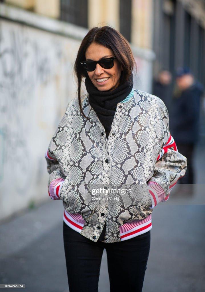 Street Style: January 14 - Milan Men's Fashion Week Autumn/Winter 2019/20 : News Photo