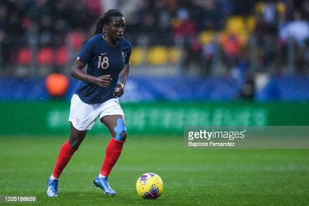 Viviane ASSEYI of France during the Tournoi de France International Women's soccer match between France and Canada on March 4 2020 in Calais France