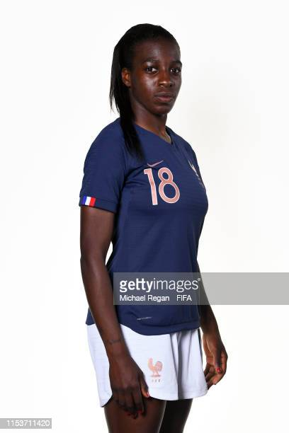 Viviane Asseyi of France poses for a portrait during the official FIFA Women's World Cup 2019 portrait session at Hotel Clairefontaine on June 04...