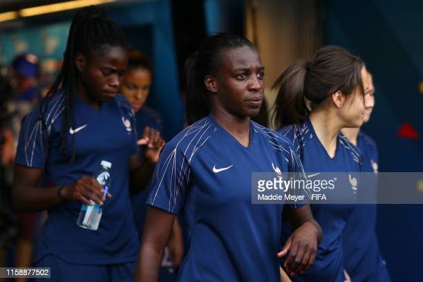 Viviane Asseyi of France walks out for a warm up prior to the 2019 FIFA Women's World Cup France Quarter Final match between France and USA at Parc...