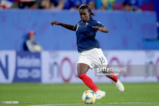 Viviane Asseyi of France Women during the World Cup Women match between Nigeria v France at the Roazhon Park on June 17 2019 in Rennes France