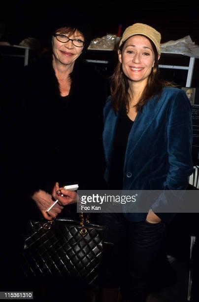 Viviane Blassel and Daniela Lumbroso during Paris Fashion Week Ready To Wear Fall/Winter 2005 - Jean Louis Scherrer Show at Backstage Carrousel Du...