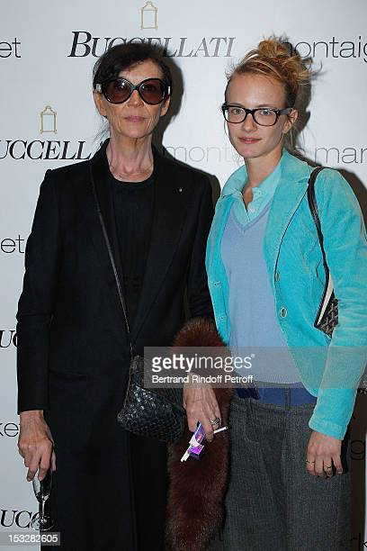 Viviane Blassel and her daughter Pauline Blassel attend the Buccellati Blossom Butterfly and Daisy new collection presentation with the 4th...