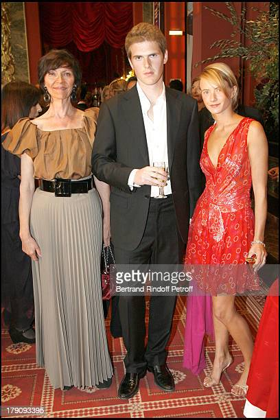 Viviane Blassel daughter Pauline and Alexandre Desseigne at 12th Annual Grand Bal De Deauville Organised By Christian Dior And Lucien Barriere