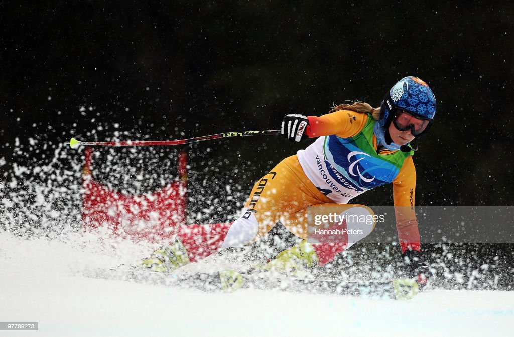 Viviane Forest of Canada competes in the Women's Visually Impaired Giant Slalom during Day 5 of the 2010 Vancouver Winter Paralympics at Whistler Creekside on March 16, 2010 in Whistler, Canada.
