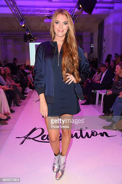 Viviane Geppert attends the Marcel Ostertag show during the MercedesBenz Fashion Week Berlin A/W 2017 at Delight Rental Studios on January 18 2017 in...