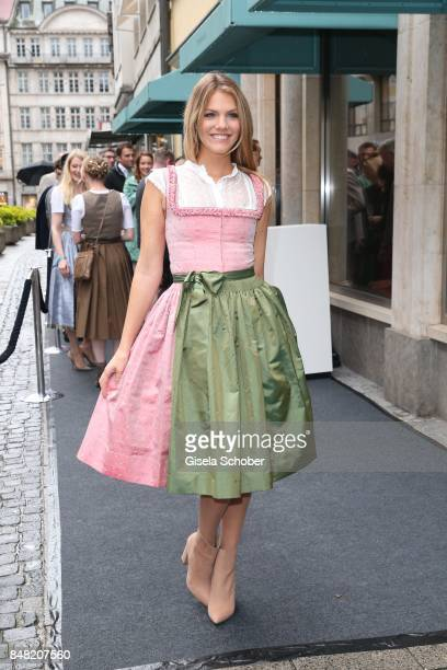 Viviane Geppert during the Breakfast at Tiffany at Tiffany Store ahead of the Oktoberfest on September 16, 2017 in Munich, Germany.