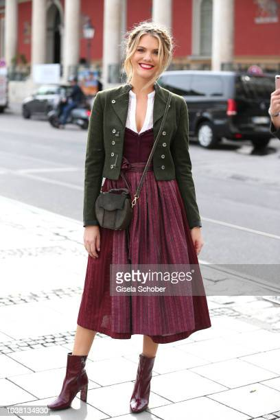 Viviane Geppert during the 'Fruehstueck bei Tiffany' at Tiffany Store ahead of the Oktoberfest on September 22 2018 in Munich Germany