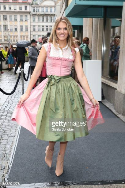 Viviane Geppert during the 'Fruehstueck bei Tiffany' at Tiffany Store ahead of the Oktoberfest on September 16, 2017 in Munich, Germany.