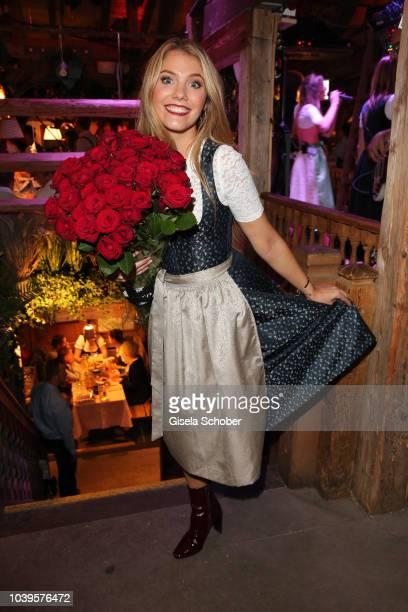 Viviane Geppert during the Oktoberfest 2018 Angermaier Wiesn at Kaeferschaenke at Theresienwiese on September 24 2018 in Munich Germany
