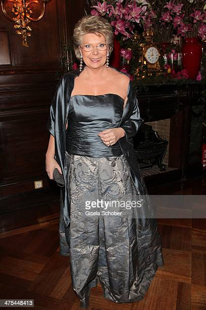 Viviane Reding attends the traditional Vienna Opera Ball at Vienna State Opera on February 27 2014 in Vienna Austria