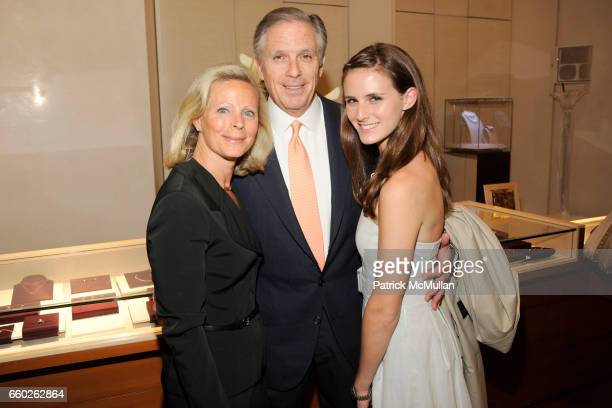 Vivianne Henderson Brian Henderson and Olivia Henderson attend BVLGARI 'Save The Children' Cocktail Party at BVLGARI on June 18 2009 in New York