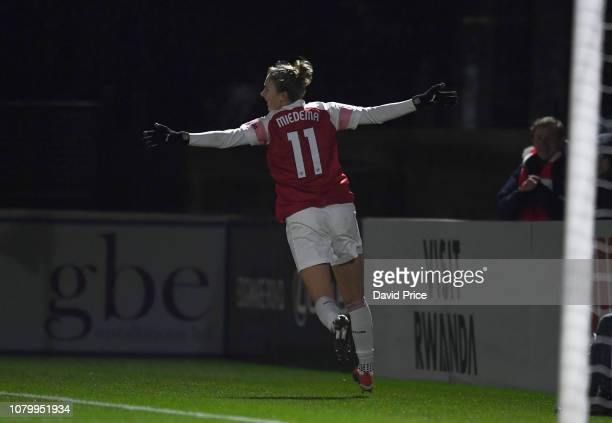 Vivianne Miedema celebrates scoring Arsenal's 2nd goal during the FA WSL Continental Tyres CupÊmatch between Arsenal Women and Birmingham City Women...