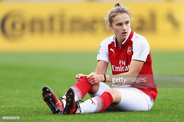 Vivianne Miedema looks on during the Women's Super League 1 match between Arsenal and Bristol City at Meadow Park Boreham Wood on October 8 2017 in...