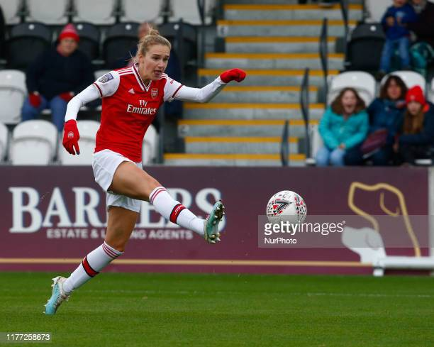 Vivianne Miedema of Arsenal during FA WSL Continental Tyres Cup Group One South match between Arsenal Women and Charlton Athletic Women at Meadow...