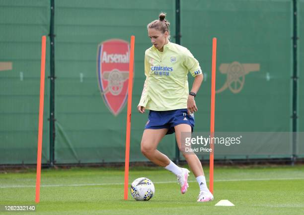 Vivianne Miedema of Arsenal during the Arsenal Women training session at Arsenal Academy on July 29, 2020 in Walthamstow, England.