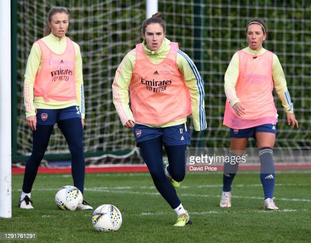 Vivianne Miedema of Arsenal during the Arsenal Women's training session at Arsenal Academy on December 16, 2020 in Walthamstow, London, England.