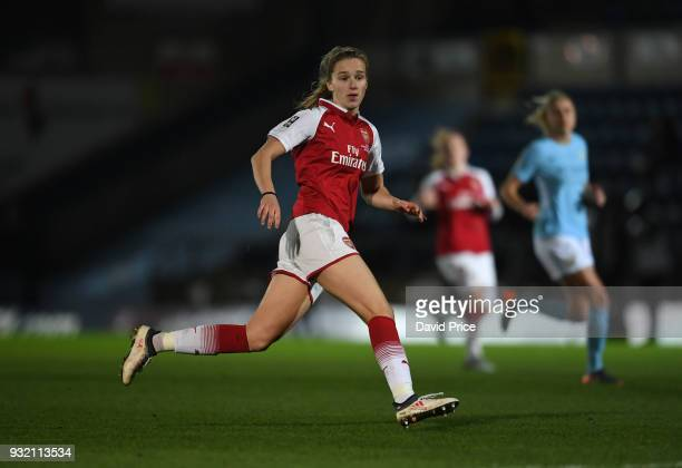 Vivianne Miedema of Arsenal during the match between Arsenal Women and Manchester City Ladies at Adams Park on March 14 2018 in High Wycombe England