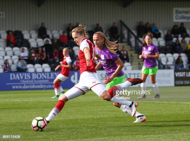 Vivianne Miedema of Arsenal during Women's Super League 1match between Arsenal against Bristol City Women at Meadow Park Borehamwood FC on 08 Oct 2017