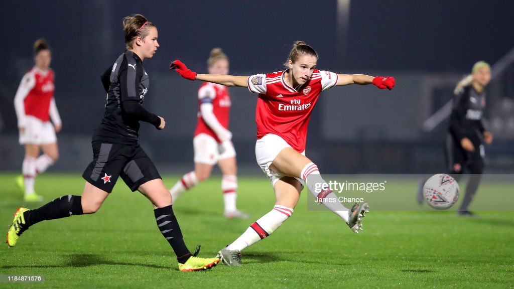 Arsenal Women v SK Slavia Praha - UEFA Women's Champions League Round of 16: Second Leg : Foto jornalística