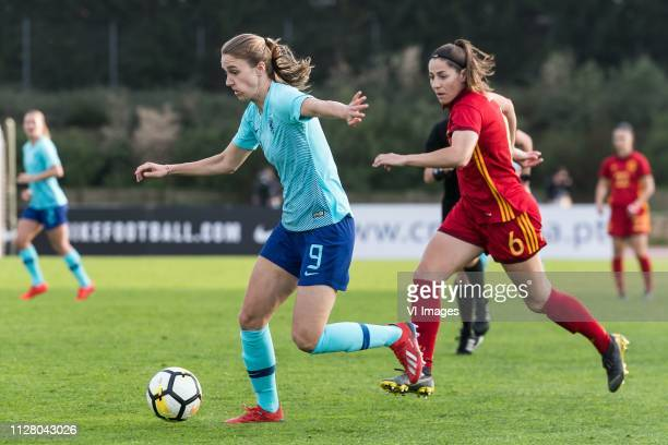 Vivianne Miedema of Holland Women Andrea Pereira of Spain women during the Algarve Cup 2019 match between Spain and The Netherlands at Estadio...