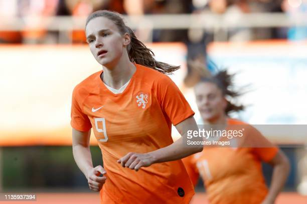 Vivianne Miedema of Holland Women celebrates during the International Friendly Women match between Holland v Chile at the AFAS Stadium on April 9...