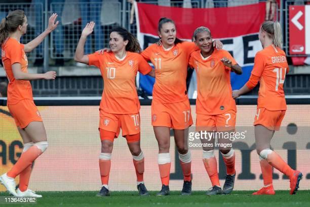 Vivianne Miedema of Holland Women Danielle van de Donk of Holland Women Lieke Martens of Holland Women Shanice van de Sanden of Holland Women Jackie...
